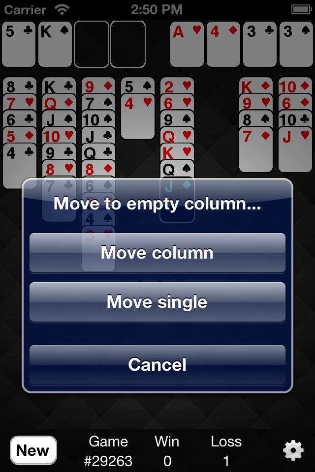 Screenshot i-Freecell